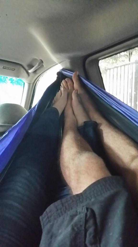 Feet in ENO Hammock